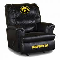 Iowa Hawkeyes Big Daddy Leather Recliner
