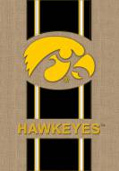 Iowa Hawkeyes Burlap Flag