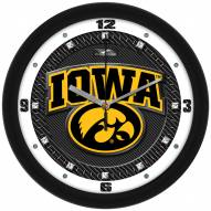 Iowa Hawkeyes Carbon Fiber Wall Clock