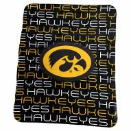Iowa Hawkeyes NCAA Classic Fleece Blanket