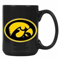 Iowa Hawkeyes College 2-Piece Ceramic Coffee Mug Set