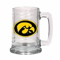 Iowa Hawkeyes College Glass Tankard Beer Mug 2-Piece Set