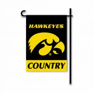 Iowa Hawkeyes Country Garden Flag