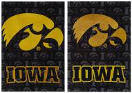 Iowa Hawkeyes Double Sided Glitter Garden Flag