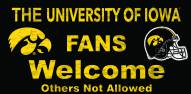 Iowa Hawkeyes Fans Welcome Wood Sign