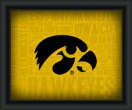 Iowa Hawkeyes Framed Word Cloud