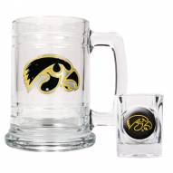 Iowa Hawkeyes Glass Mug & Shot Glass Set