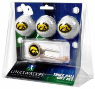 Iowa Hawkeyes Golf Ball Gift Pack with Cap Tool