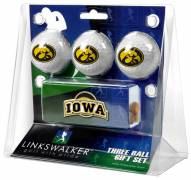 Iowa Hawkeyes Golf Ball Gift Pack with Slider Clip