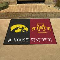 Iowa Hawkeyes/Iowa State Cyclones House Divided Mat