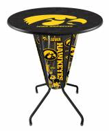 Iowa Hawkeyes Indoor/Outdoor Lighted Pub Table