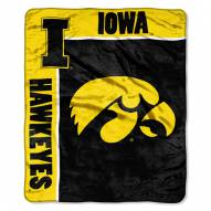 Iowa Hawkeyes Jersey Mesh Raschel Throw Blanket
