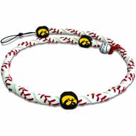 Iowa Hawkeyes Leather Football Necklace