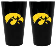 Iowa Hawkeyes Lusterware Pint Glass - Set of 2