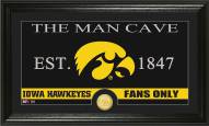 Iowa Hawkeyes Man Cave Bronze Coin Panoramic Photo Mint