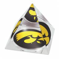 Iowa Hawkeyes Mascot Crystal Pyramid