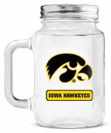 Iowa Hawkeyes Mason Glass Jar