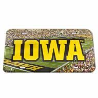 Iowa Hawkeyes Crystal Mirror License Plate