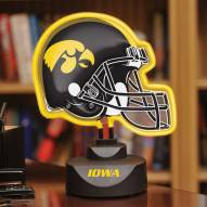 Iowa Hawkeyes Neon Helmet Desk Lamp