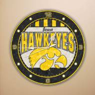Iowa Hawkeyes NCAA Stained Glass Wall Clock