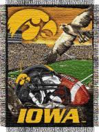Iowa Hawkeyes NCAA Woven Tapestry Throw / Blanket