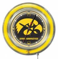 Iowa Hawkeyes Neon Clock