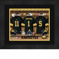 Iowa Hawkeyes Personalized Locker Room 13 x 16 Framed Photograph