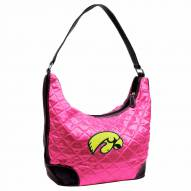 Iowa Hawkeyes Pink NCAA Quilted Hobo Handbag