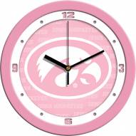 Iowa Hawkeyes Pink Wall Clock