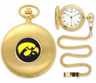 Iowa Hawkeyes Pocket Watch - Gold