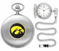Iowa Hawkeyes Pocket Watch - Silver