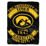 Iowa Hawkeyes Rebel Raschel Throw Blanket