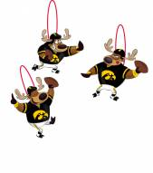 Iowa Hawkeyes Reindeer Ornaments