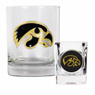 Iowa Hawkeyes Rocks Glass & Shot Glass Set