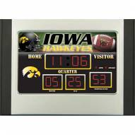 Iowa Hawkeyes Scoreboard Desk Clock