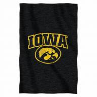 Iowa Hawkeyes Script Sweatshirt Throw Blanket