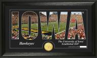 Iowa Hawkeyes Silhouette Bronze Coin Panoramic Photo Mint