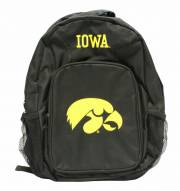 Iowa Hawkeyes Southpaw Black Backpack