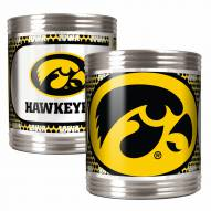 Iowa Hawkeyes Stainless Steel Hi-Def Coozie Set