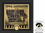 Iowa Hawkeyes State Bronze Coin Photo Mint