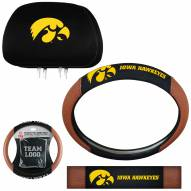 Iowa Hawkeyes Steering Wheel & Headrest Cover Set