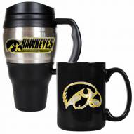 Iowa Hawkeyes Travel Mug & Coffee Mug Set