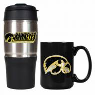 Iowa Hawkeyes Travel Tumbler & Coffee Mug Set