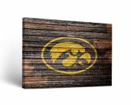 Iowa Hawkeyes Weathered Canvas Wall Art