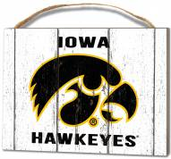 Iowa Hawkeyes Weathered Logo Small Plaque