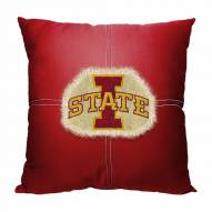 Iowa State Cyclones Letterman Pillow