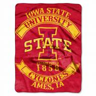 Iowa State Cyclones Rebel Raschel Throw Blanket