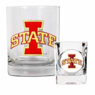Iowa State Cyclones Rocks Glass & Shot Glass Set