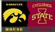 Iowa State/Iowa 3' x 5' House Divided Flag