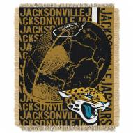 Jacksonville Jaguars Double Play Jacquard Throw Blanket